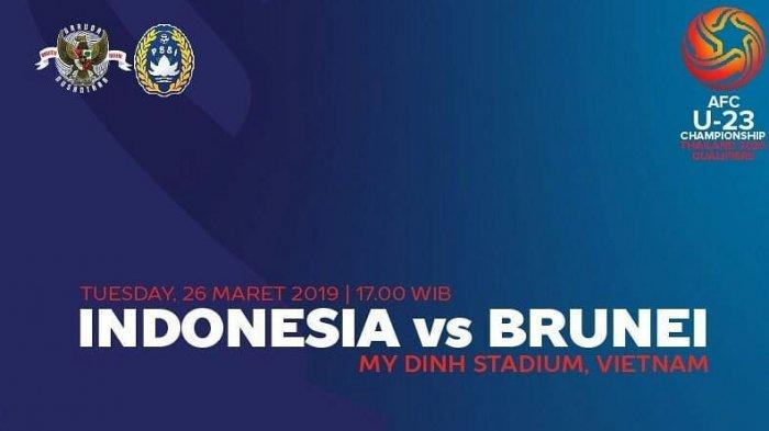 Live Streaming Timnas U-23 Indonesia vs Brunei Darussalam di Kualifikasi Piala Asia 2020 di RCTI