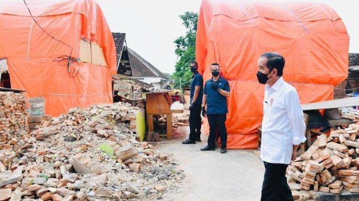 Presiden Tinjau Lokasi Terdampak Gempa, Pemerintah Bantu Rekonstruksi Rumah Warga