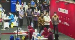 Hadiri Vaksinasi Pekerja Media, Jokowi : Saya Harap Dapat Melindungi Insan Pers saat Tugas