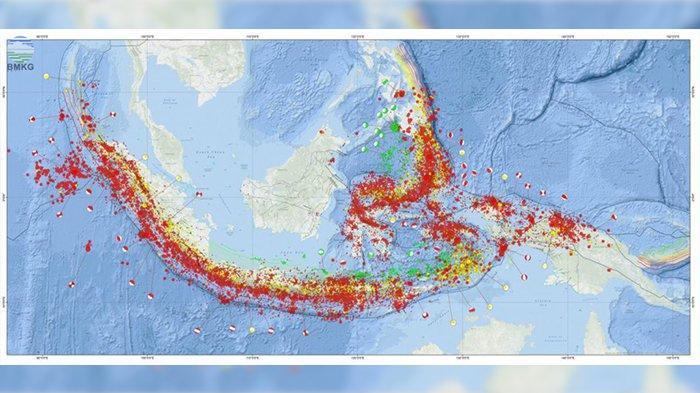 Titik gempa di indonesia BMKG