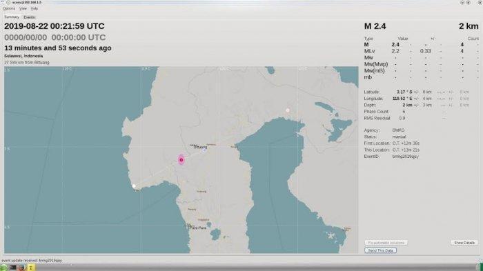 Gempa 2,4 Skala Richter Guncang Mamasa Kamis Pagi