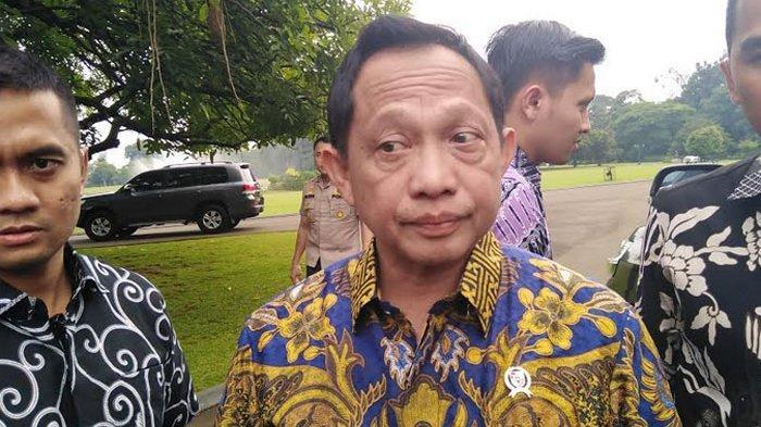 Tito Karnavian di Istana Bogor, Jakarta, Jumat (27/12/2019).
