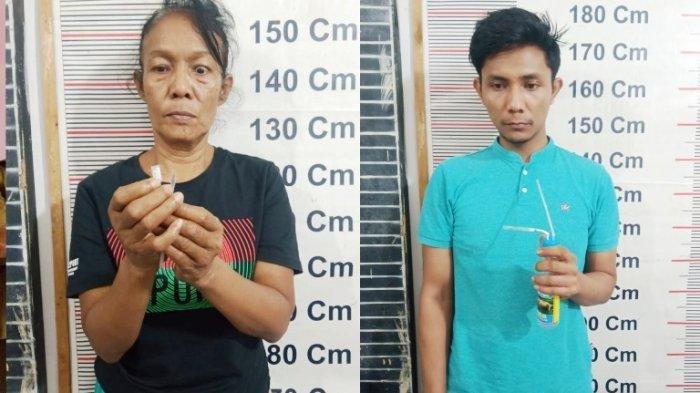 Wanita 53 Tahun Kepergok Pesta Sabu dengan Seorang Pemuda, Terancam 20 Tahun Penjara