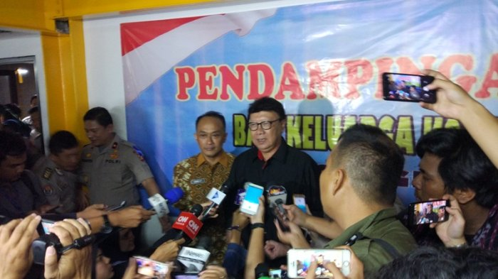 Datangi Posko Keluarga Korban Lion Air di RS Polri, Mendagri Bawa Tim Dukcapil