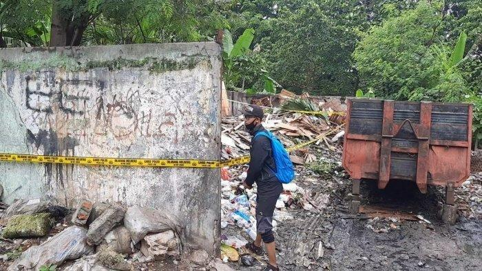 TKP kedua penemuan potongan tubuh manusia berupa tangan sebelah kiri di sebuah tempat pembuangan sampah, Kayuringin Bekasi. (TRIBUNJAKARTA.COM/YUSUF BACHTIAR)