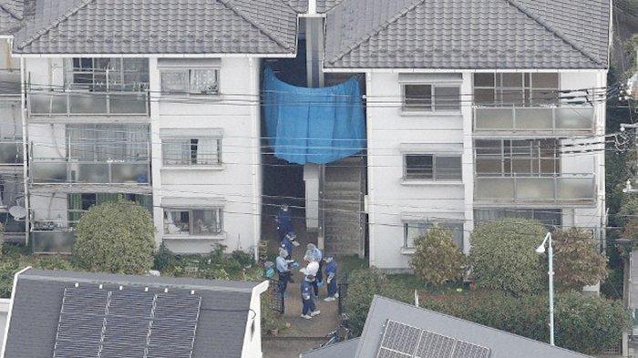 Tempat Ryosuke Shindo (9) ditemukan dekat kotak pencatat meteran air di lorong rumah tetangganya.