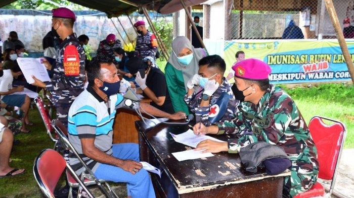 TNI Angkatan Laut wilayah Sorong Gabungan Gelar Vaksin Diikuti 295 Orang