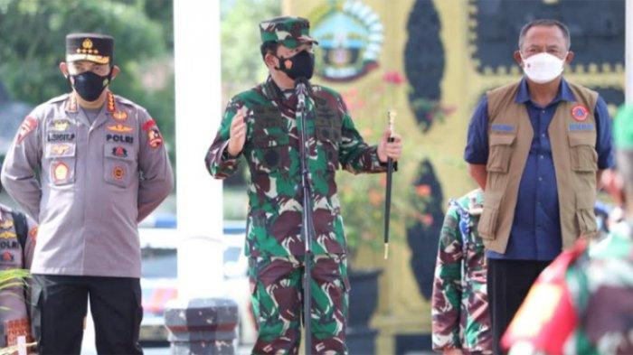 Penularan Covid-19 Masih Sangat Masif, Panglima TNI Ingatkan Lagi Pentingnya Masker Jad Senjata