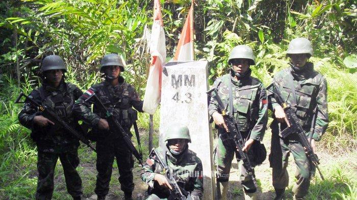 Lima Patok Perbatasan RI-Malaysia di Kecamatan Krayan Hilang