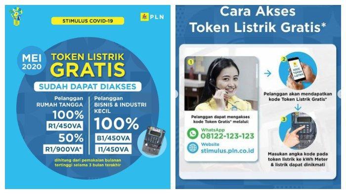 Token Listrik Gratis dan Diskon 50% Mei 2020 Bisa Diakses, Login www.pln.co.id atau WA 08122123123.