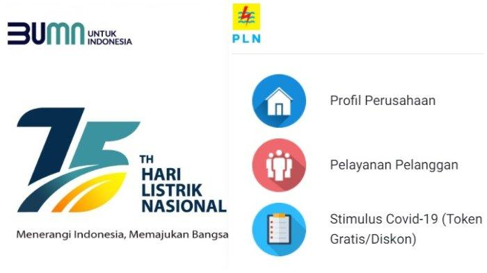 Halaman website www.pln.co.id