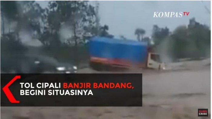Kemarin, Ruas Tol Cipali Banjir 20 Sentimeter, Sepanjang Dua Kali Lapangan Sepak Bola