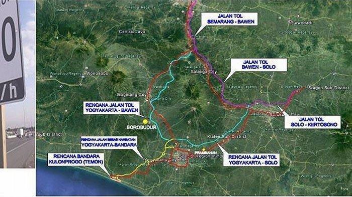 Ilustrasi rencana jaringan jalan bebas hambatan Yogyakarta Jawa Tengah