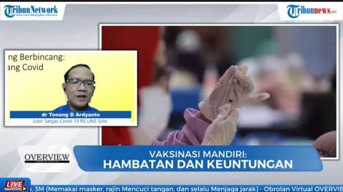 Dokter sekaligus Jubir Satgas Covid-19 RS Universitas Sebelas Maret Surakarta (UNS), dr Tonang Dwi Ardyanto.
