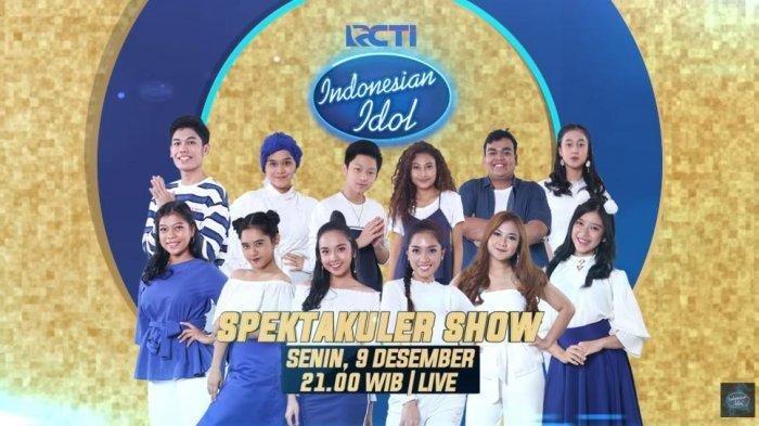 Top 12 Indonesian Idol Tampil di Babak Spektakuler Show (Youtube Indonesian Idol)