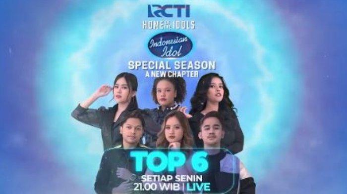 Top 6 yang tersisa adalah Mark, Anggi, Melisa, Azhardi, Jemimah, dan Rimar. Indonesian Idol tayang malam ini, Senin (8/3/2021) mulai pukul 21.00 WIB