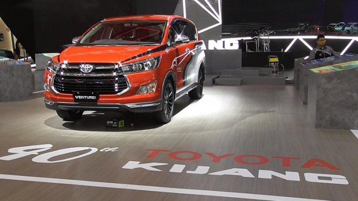 Toyota Kijang Venturer di booth Toyota di GIIAS 2017, Senin (14/8/2017).