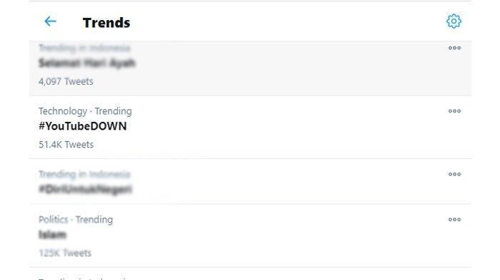 Trending Twitter #YouTubeDOWN