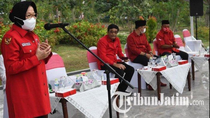 Ketua DPP PDI Perjuangan Bidang Kebudayaan, Tri Rismaharini memberikan pesan khusus kepada Eri Cahyadi-Armuji yang telah resmi mendapat rekomendasi PDI Perjuangan untuk maju di Pilkada Surabaya 2020, Rabu (2/9/2020).