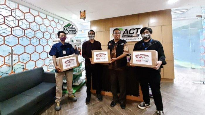 Menuju New Normal, Tribunnews dan Cardinal Donasikan 30.000 Masker Kain Kepada ACT