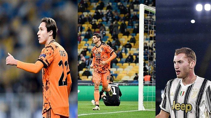 Trio Juventus, Federico Chiesa, Alvaro Morata, dan Dejan Kulusevski