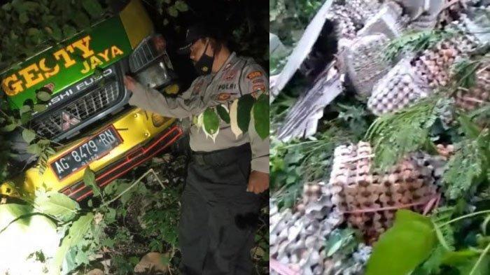 Rem Blong, Truk Terjun Bebas ke Jurang di Tulungagung, Telur yang Diangkut Tumpah dan Bercecer