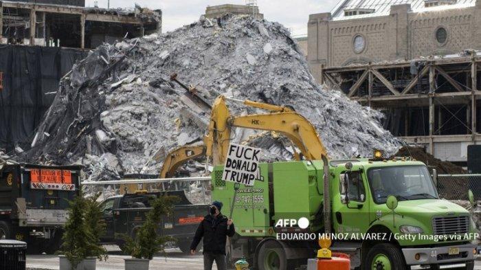 FOTO Bekas Trump Plaza Hotel dan Kasino di Atlantic City Dihancurkan, Tutup Sejak 2014