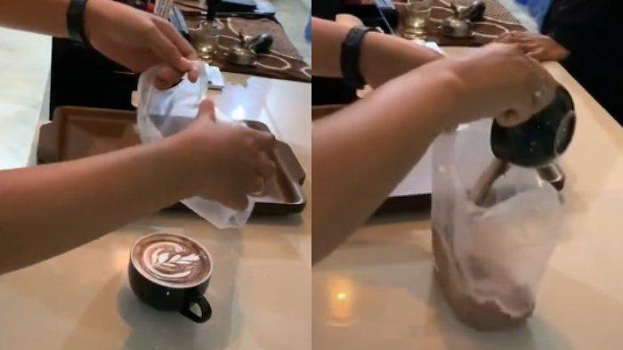 VIRAL Video Pemuda Bungkus Kopi Latte yang Dipesan Pakai Plastik, Begini Cerita Lengkap di Baliknya
