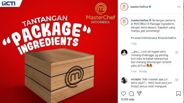 tujuh peserta tersisa dihadapkan dengan Package Ingredients Challenge.