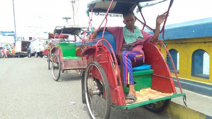 Derita Tukang Becak saat Wabah Corona di Ambon, Kerja Seharian, Pulang Harus Hutang untuk Makan