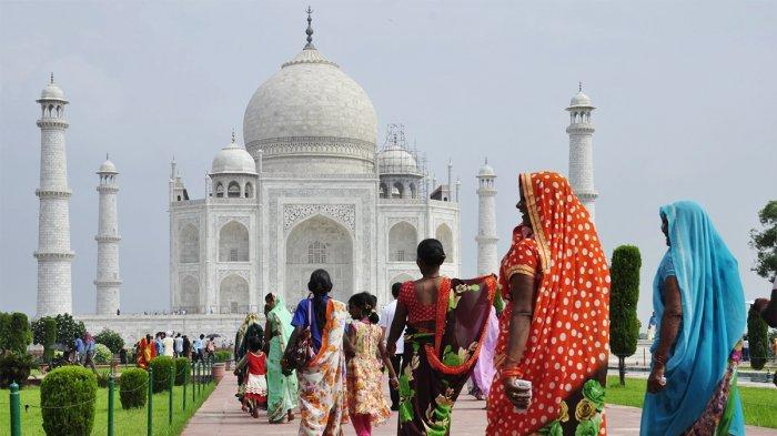 India Longgarkan Pembatasan Covid-19, Kini Taj Mahal Dibuka Kembali untuk  Turis - Tribunnews.com Mobile