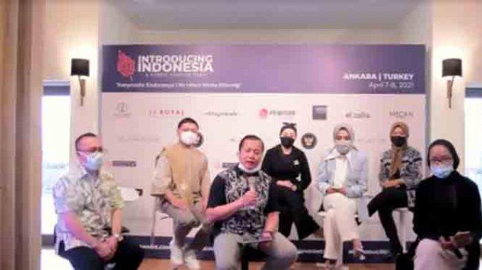 Virtual press conference acara 'Introducing Indonesia' yang akan digelar di Turki, Senin (5/4/2021).