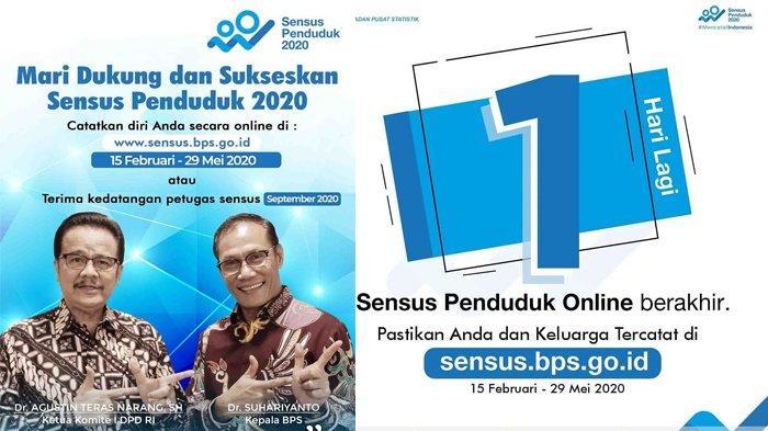 Segera Login sensus.bps.go.id untuk Isi Sensus Penduduk Online 2020, Berakhir 29 Mei