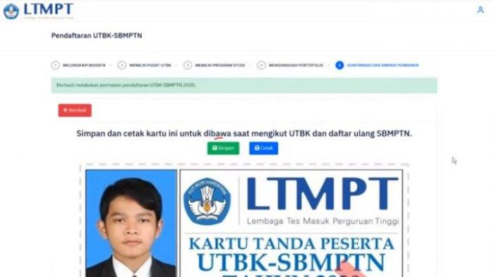 UPDATE UTBK-SBMPTN 2020, Tutorial Pilih Program Studi dan Kirim Portofolio, Login portal.ltmpt.ac.id
