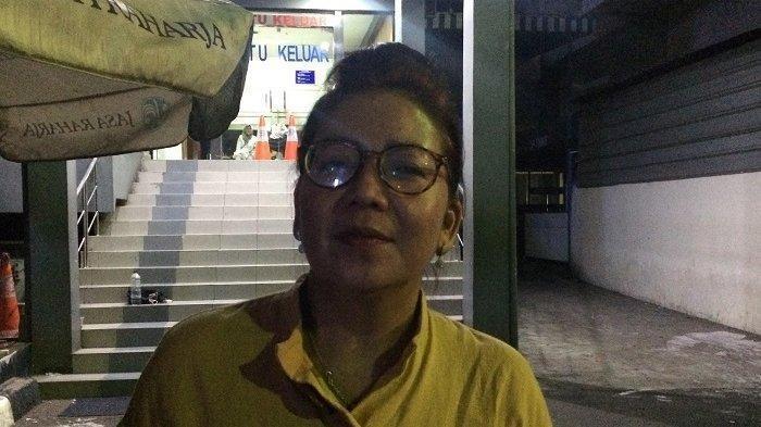 Tuty Suratinah di Polda Metro Jaya, Kebayoran Baru, Jakarta Selatan, Sabtu (27/7/2019) malam.
