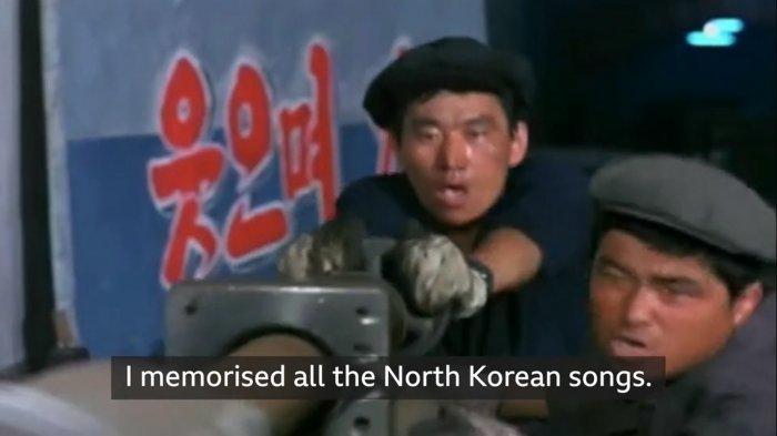 Cpulikan tayangan di televisi Korea Utara.