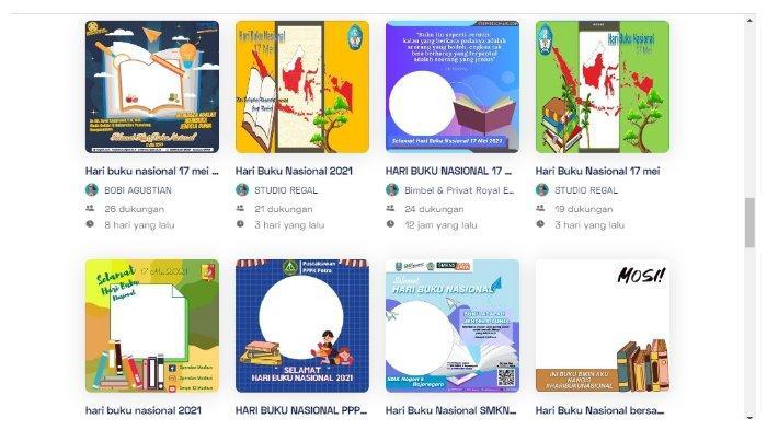25 Link Download Twibbon Kartu Ucapan Selamat Hari Buku Nasional 17 Mei 2021, Ini Cara Membuatnya