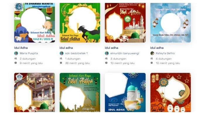 40 Link Twibbon Kartu Ucapan Selamat Hari Raya Idul Adha 1442 H, 20 Juli 2021, Ini Cara Membuatnya