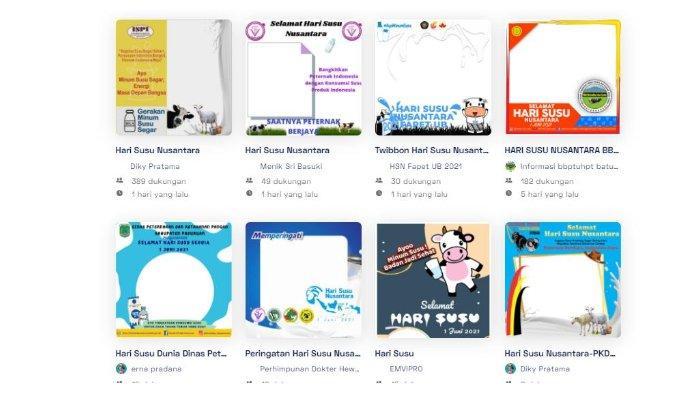 15 Link Twibbon Kartu Ucapan Selamat Hari Susu Nusantara 1 Juni 2021, Ini Cara Membuatnya
