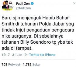 Fadli Zon Sebut Billy Sindoro Tak Ada di Tahanan, Polda Jabar: Dia Sedang Berobat