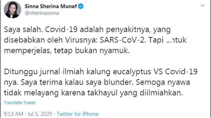 Sherina Komentari Kalung Antivirus Corona: 'Semoga Nyawa Tidak Melayang karena Takhayul Diilmiahkan'