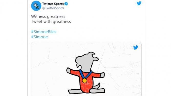 Serba-serbi Olimpiade 2021: Pesenam Simon Biles Jadi Atlet Pertama Miliki Ikon Emoji di Twitter