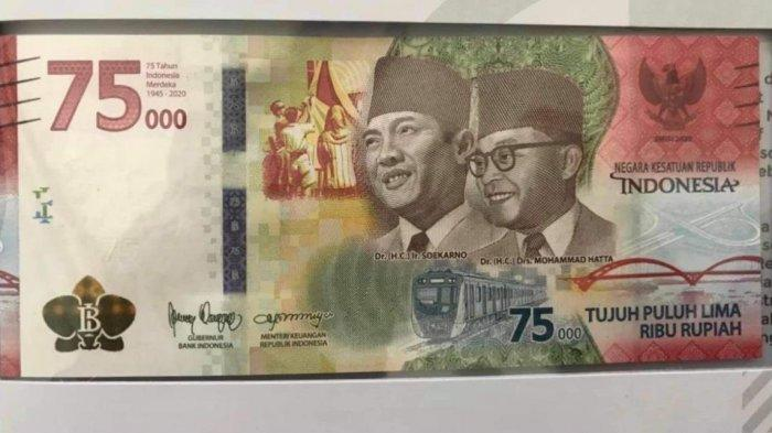 Uang Baru Rp 75.000 Edisi Kemerdekaan Hanya Dicetak 250 Ribu Lembar, Intip Ornamen dan Maknanya