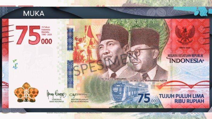 Uang Edisi Khusus Peringatan HUT ke-75 Republik Indonesia bagian muka (bi.go.id)
