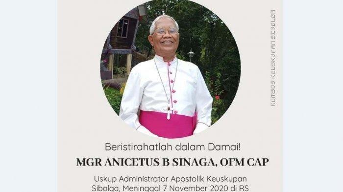 Uskup Agung Sibolga, Mgr Anicetus B Sinaga Meninggal Dunia