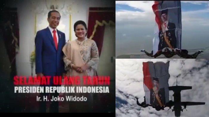 Marinir TNI AL Beri Ucapan Selamat Ulang Tahun untuk Jokowi dari Udara