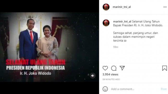 Ucapan selamat ulang tahun pada Jokowi dari Marinir TNI AL