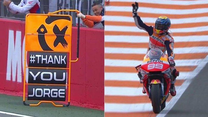 Ucapan terima kasih Repsol Honda pada Jorge Lorenzo