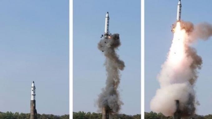 Ujicoba rudal balistik Korea Utara`1