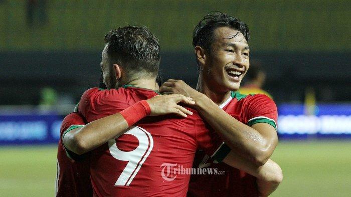 Di Bawah Guyuran Hujan Lebat, Timnas Indonesia Menang 4-0 atas Brunei di Tsunami Cup 2017